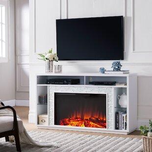 Millwood Pines Callum Glass Tiled Media Fireplace