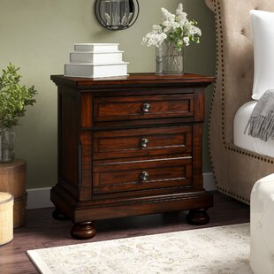 Barossa 3 Drawer Bachelor's Night Stand by Darby Home Co