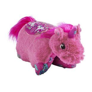 Sleeptime Lite Colorful Pink Unicorn Plush Night Light By Pillow Pets Wall Lights