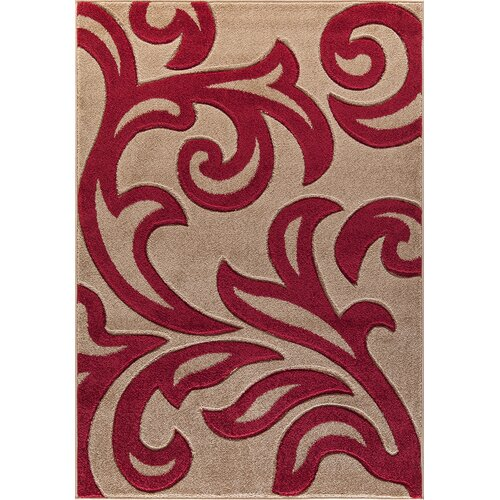 Millerstown Beige/Red Rug ClassicLiving Rug Size: Runner 60 x 220cm