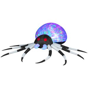 projection kaleidoscope spider airblown inflatable halloween decoration - Outdoor Inflatable Halloween Decorations