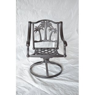 Maccharles Swivel Patio Dining Chair with Cushion