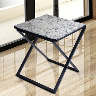 Sturgis Marble Top End Table by Red Barrel Studio