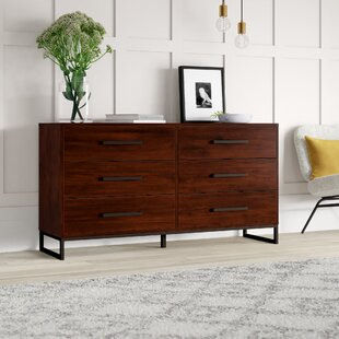 Mcelvain 6 Drawer Double Dresser by Mercury Row