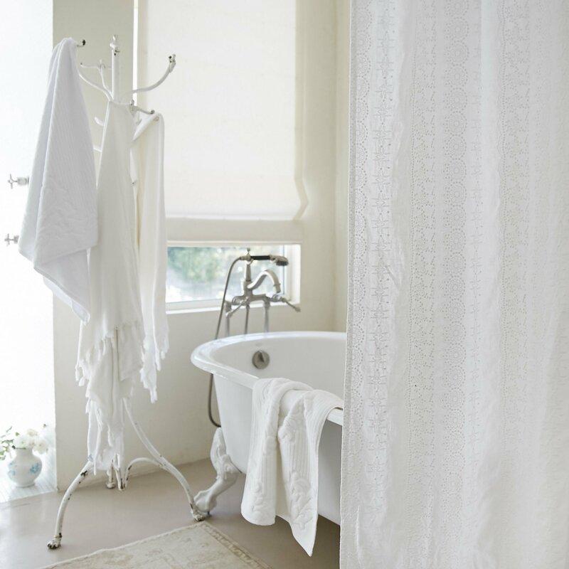 Rachel Ashwell Boho Embroidered Linen Shower Curtain | Perigold