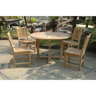 Bayou Breeze Kratzer 5 Piece Teak Dining Set