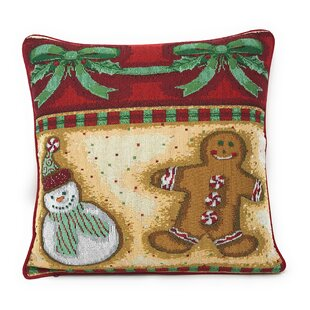 Santos Gingerbread Sweets Throw Pillow