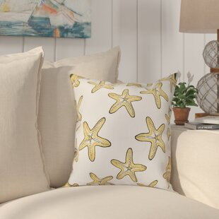 Cedarville Soft Starfish Geometric Print Outdoor Throw Pillow