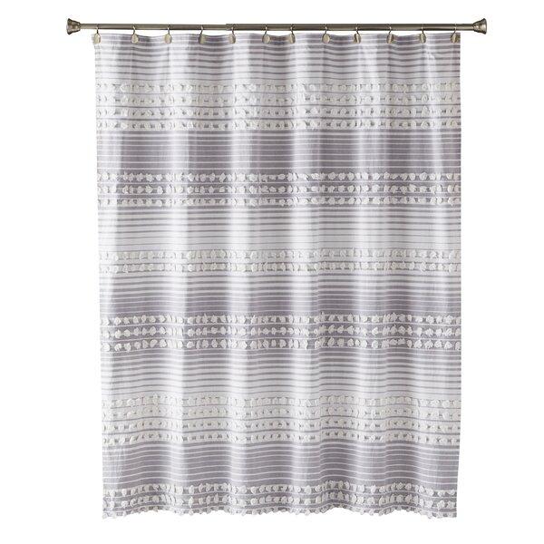 Dakota Fields Juno Stripe Cotton Single Shower Curtain Reviews Wayfair