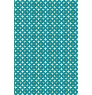 Searching for Paige Quaterfoil Design Teal/White Indoor/Outdoor Area Rug By George Oliver