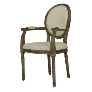 Auclair Weathered Upholstered Dining Chair (Set of 2) One Allium Way