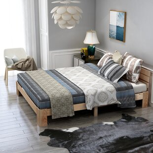 Double Bed Modern Wooden Bed Frame Double Bed Frame By Gracie Oaks