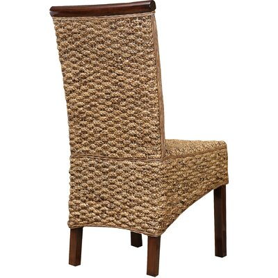 Blanche Upholstered Side Chair in Brown Bay Isle Home