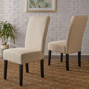 Relyea Parsons Upholstered Dining Chair (Set of 2) Latitude Run