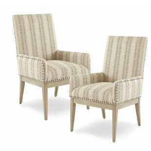 Lamberton Arm Dining Chair (Set of 2) by Bungalow Rose