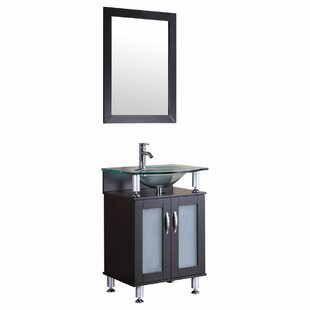 Affordable Price 24 Single Bathroom Vanity Set with Mirror By LessCare