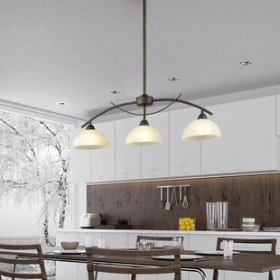 Affordable Verduzco Frosted Glass Shade 3-Lights Kitchen Island Pendant By Millwood Pines