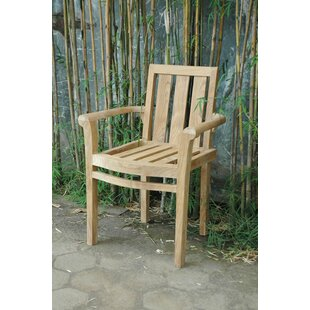 Classic Stacking Teak Patio Dining Chair (Set of 4)