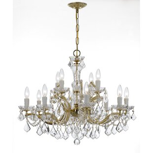 House of Hampton Griffiths 12-Light Candle Style Chandelier