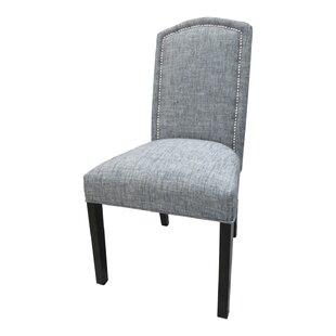 Sole Designs Nickel Cotton Parson Chair (..