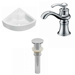 Top Reviews Ceramic 26 Wall-Mount Bathroom Sink with Faucet By Royal Purple Bath Kitchen