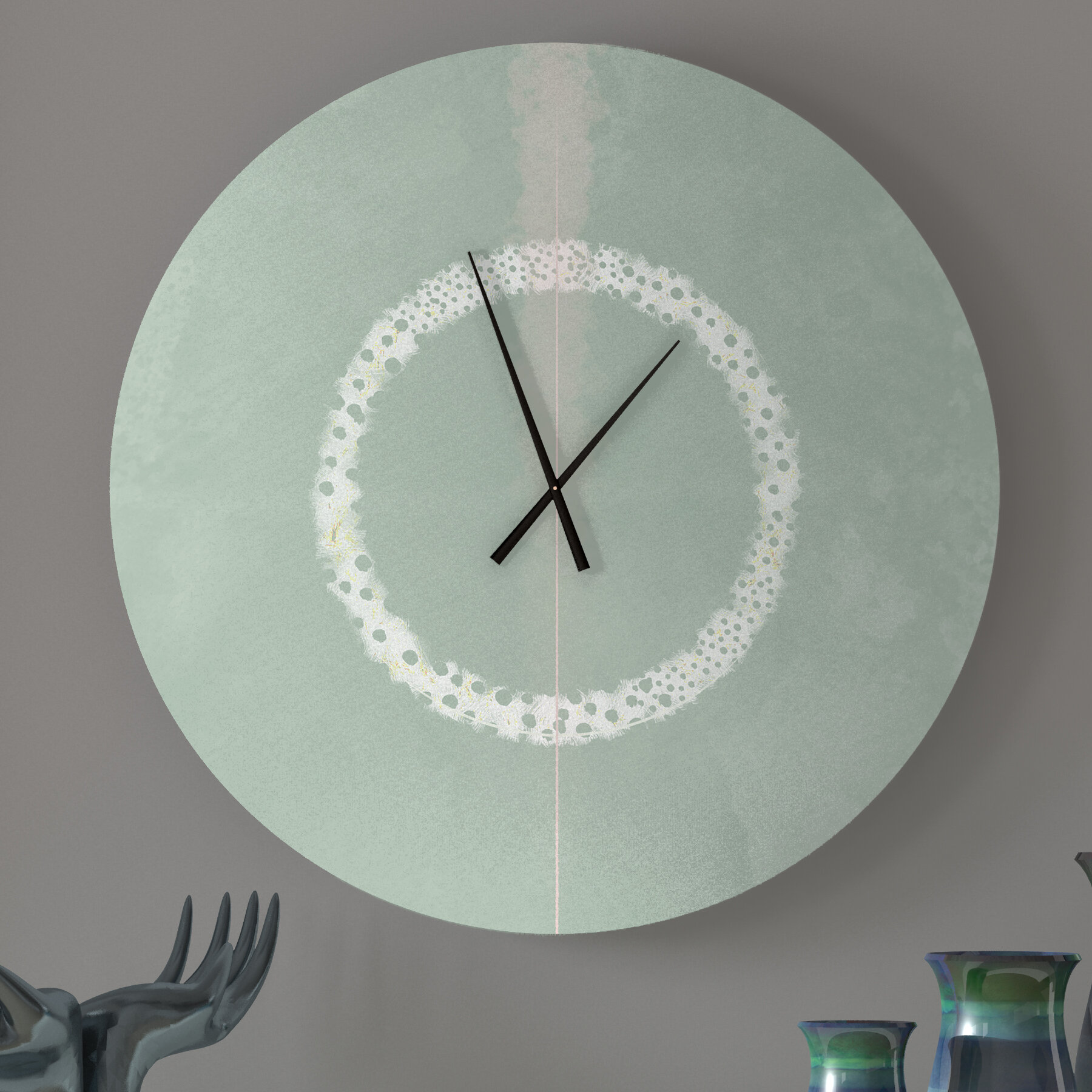 Ebern Designs Affecting Undivided Abstract Metal Wall Clock Wayfair