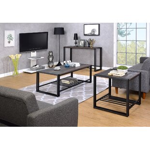 Fogg 3 Piece Coffee Table Set