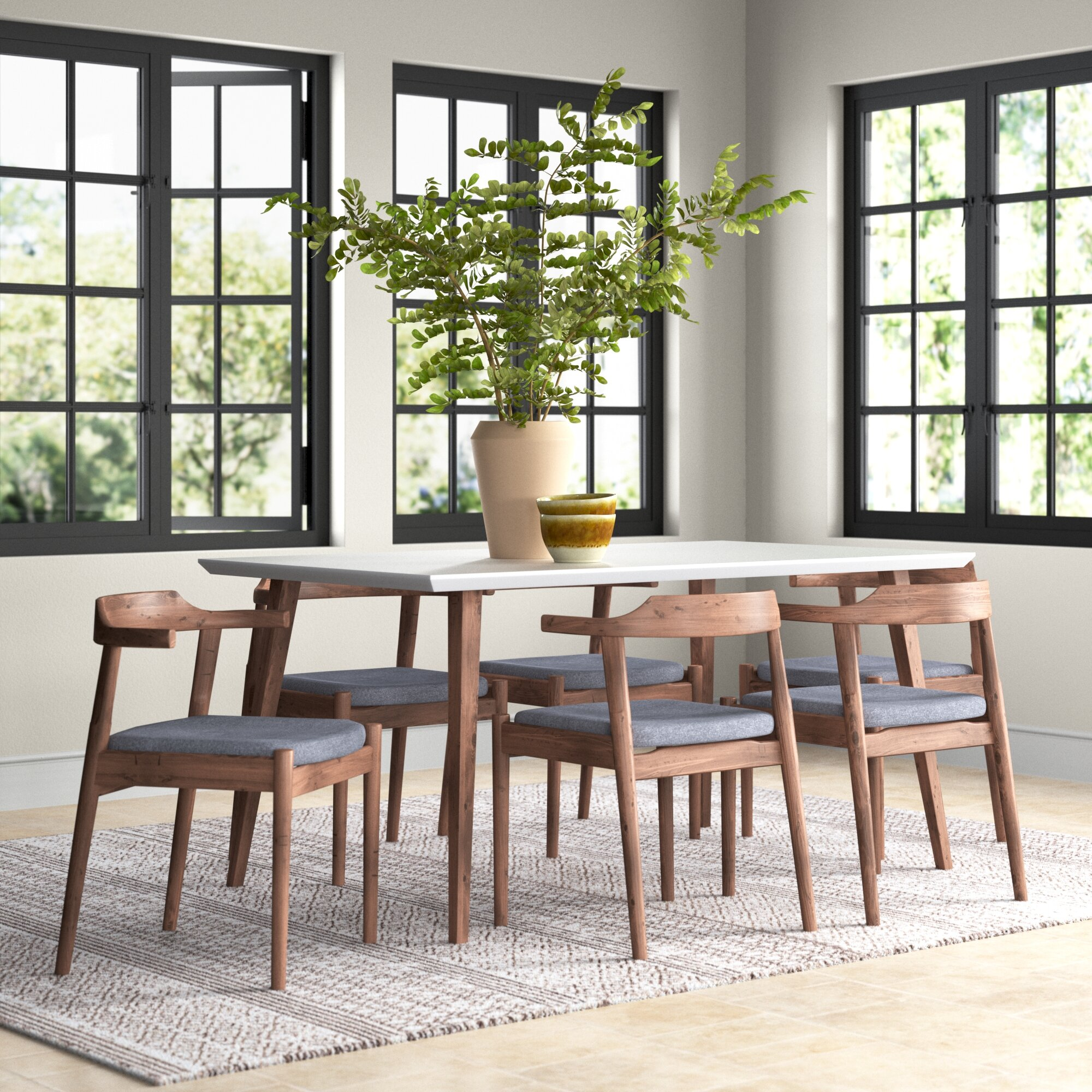 Carlyle 7 Piece Solid Wood Dining Set Reviews Joss Main