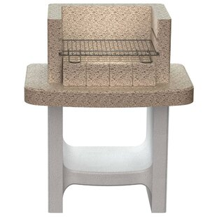 45.5cm Concrete Stand Charcoal Barbecue With Shelf By Symple Stuff