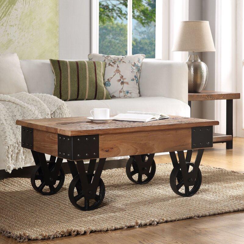 Williston Forge Daveney Wheel Coffee Table Wayfair