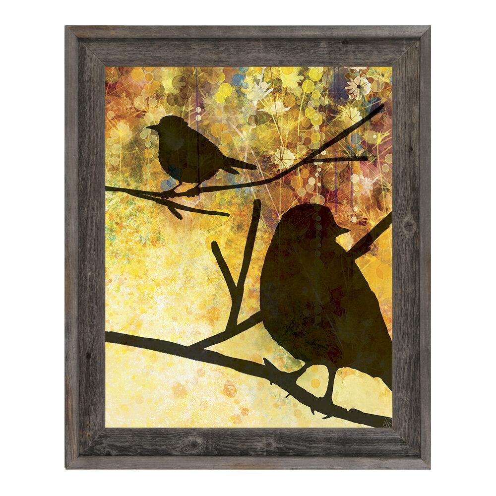 Click Wall Art Spring Birds Framed Graphic Art Wayfair