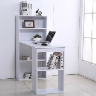 Ternes Computer Floating Desk with Hutch by Latitude Run