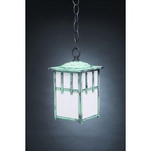Affordable Lodge 1-Light Outdoor Hanging Lantern By Northeast Lantern