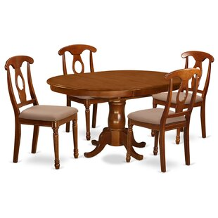 Portna 5 Piece Dining Set by East West Fu..