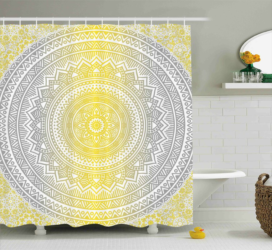 Bungalow Rose Ryanne Grey and Yellow Soft Pastel Color Ombre Ethnic ...