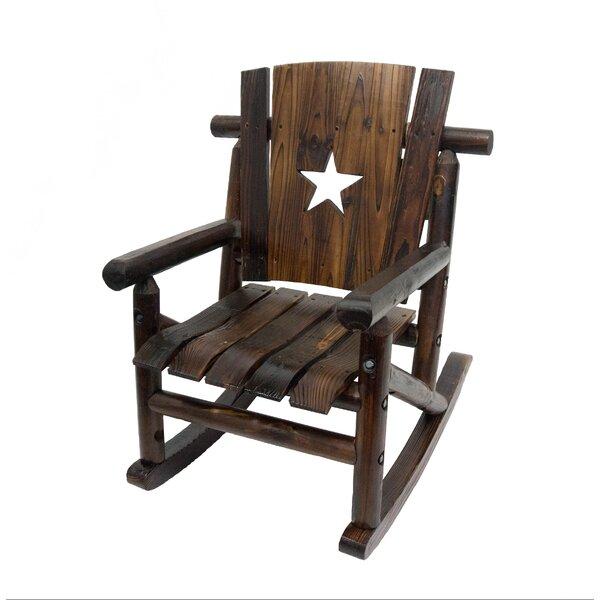 Good LeighCountry Char Log Junior Lilu0027 Cut Out Star Single Rocking Chair II U0026  Reviews | Wayfair