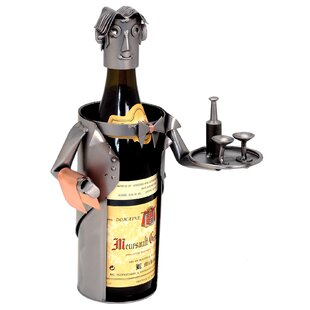 Waiter 1 Bottle Tabletop Wine Rack by H &..
