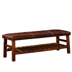 Powell Leather Bench by Furniture Classic..