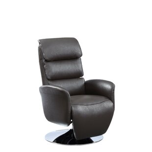 Deshaun Leather Power Recliner Orren Ellis