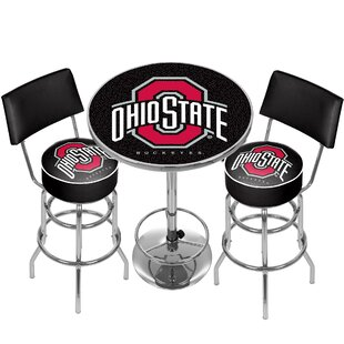 Trademark Global NCAA Game Room Combo 3 Piece Pub Table Set