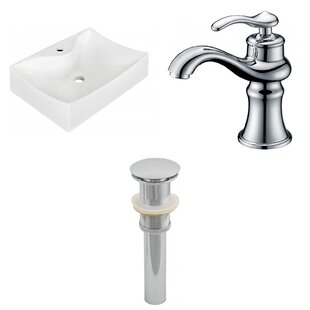 Best Price Ceramic 21.5 Wall-Mount Bathroom Sink with Faucet ByRoyal Purple Bath Kitchen