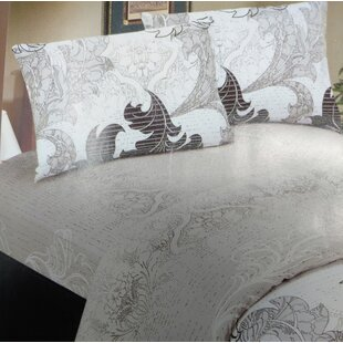 Real Leaves 200 Thread Count Cotton Fitted Sheet Set
