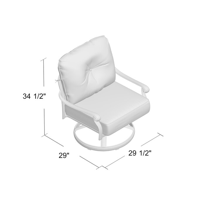 Sensational Lebanon Rocker Swivel Recliner Patio Chair With Cushions Spiritservingveterans Wood Chair Design Ideas Spiritservingveteransorg