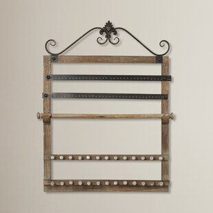 Wood Wall Mounted Jewelry Holder