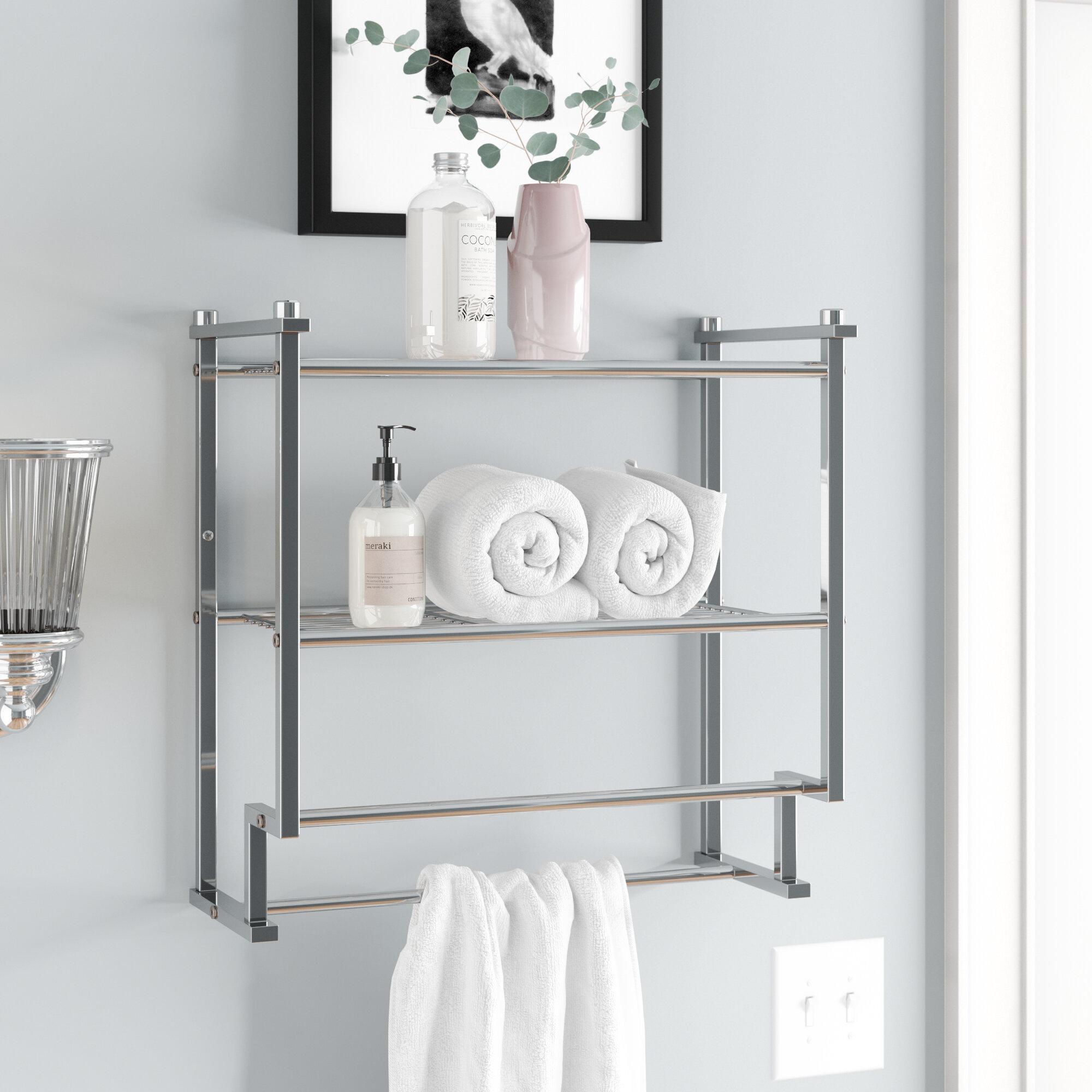 Bathroom Shelves With Towel Bar You Ll Love In 2021 Wayfair