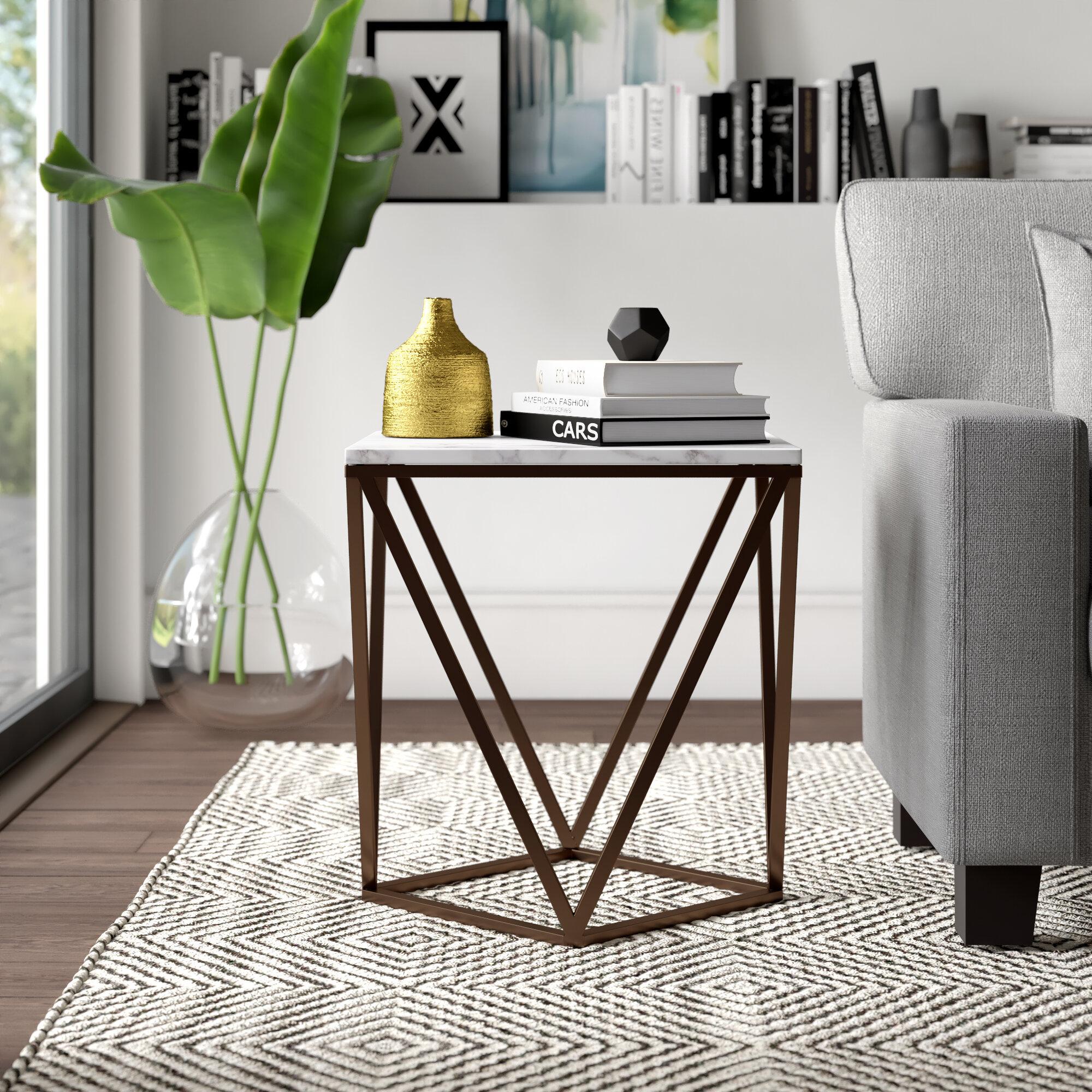 Mercury Row Morison Frame End Table Reviews Wayfair
