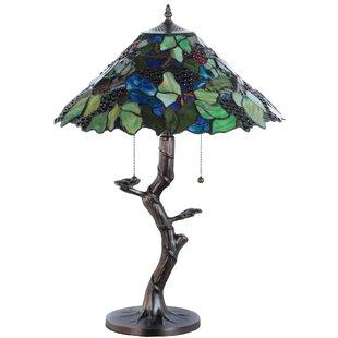 Tiffany Grape Harvest Apple Tree 25 Table Lamp
