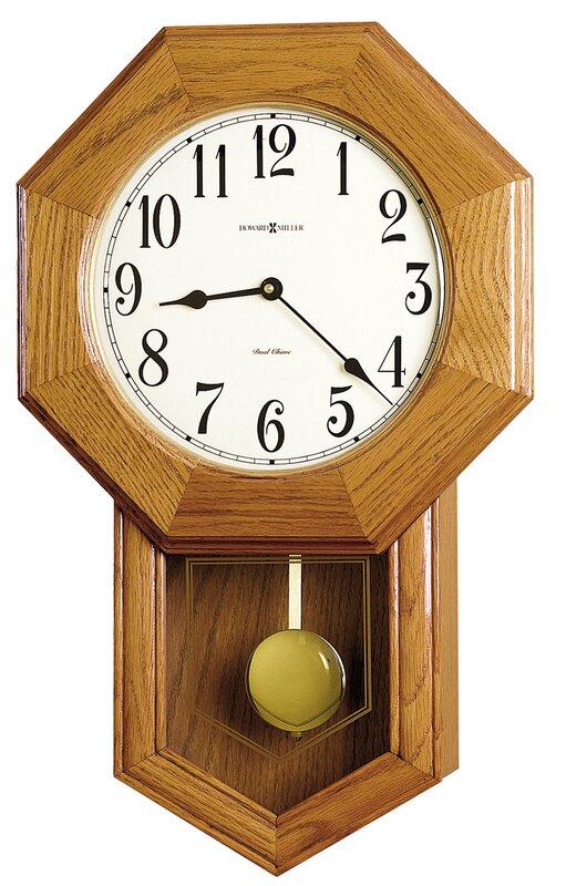 "Chiming Quartz Elliot 13.5"" Wall Clock"