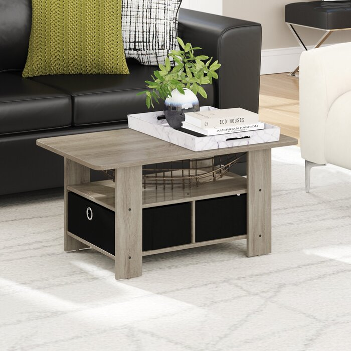 Gray Coffee Table With Storage 7