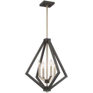 Best Reviews Greggory 4-Light Geometric Chandelier By Corrigan Studio